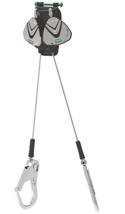 MSA V-Edge, 8ft., Twin Leg, Cable, Locking Pin Connector